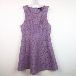 Forever 21 Purple Lace Spring Skater Dress